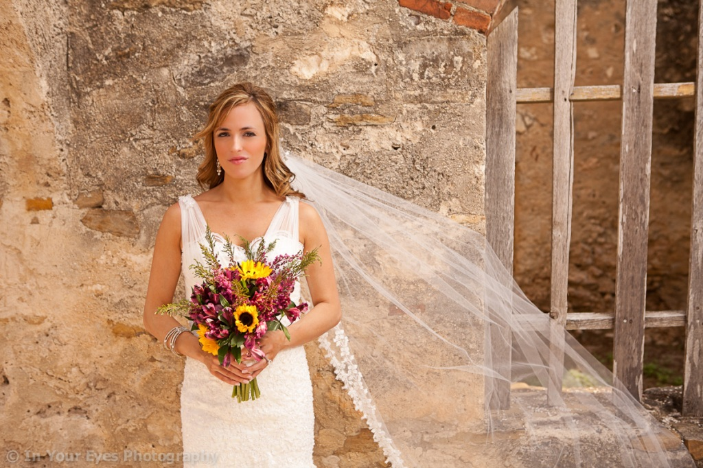 San Antonio mission bridal photos