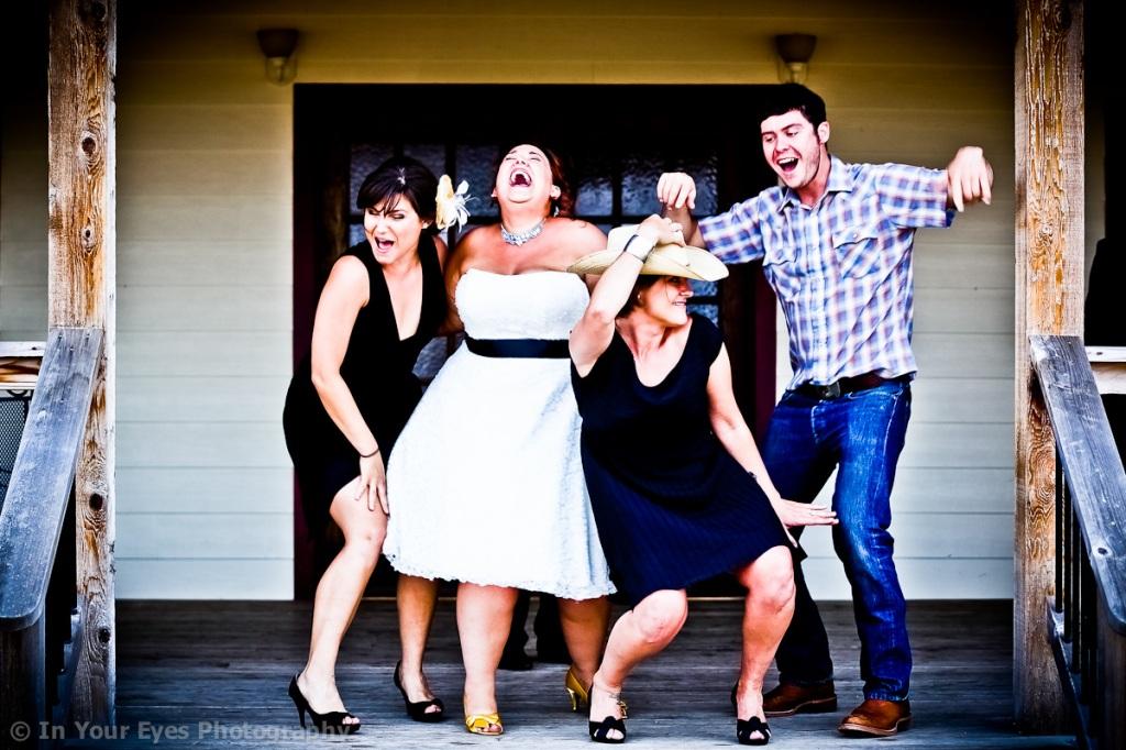 fun group wedding photos