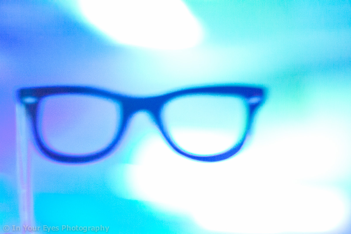 horn rimmed glasses abstract