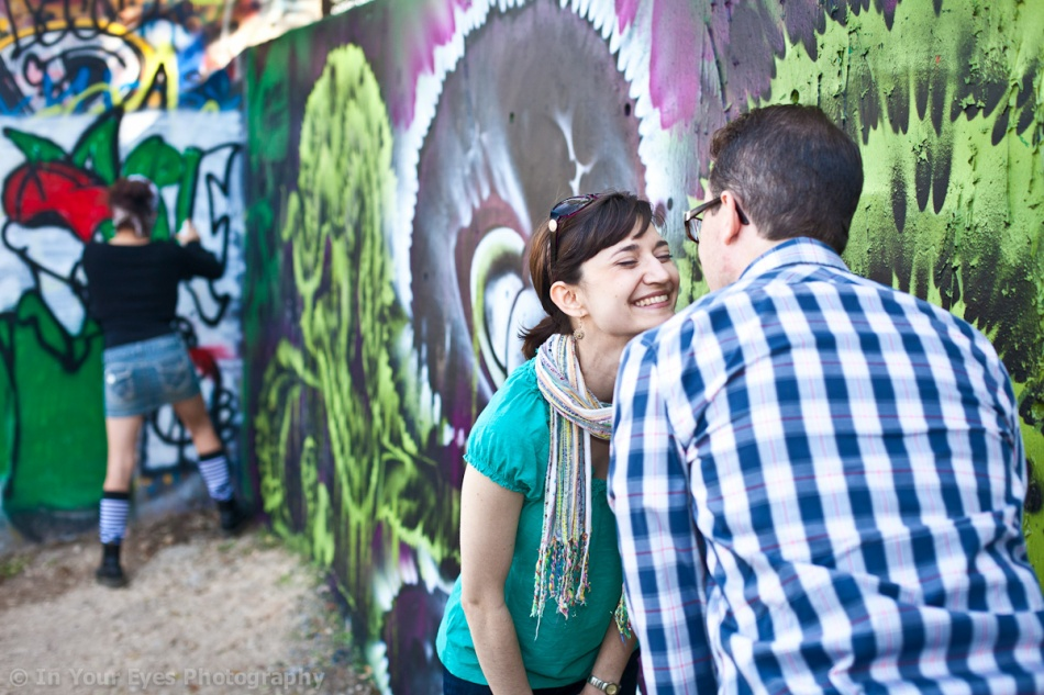 graffiti engagement shoot austin