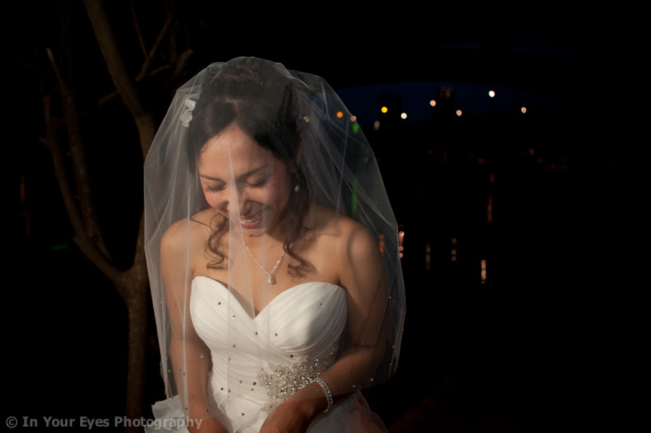 night bridal portrait austin