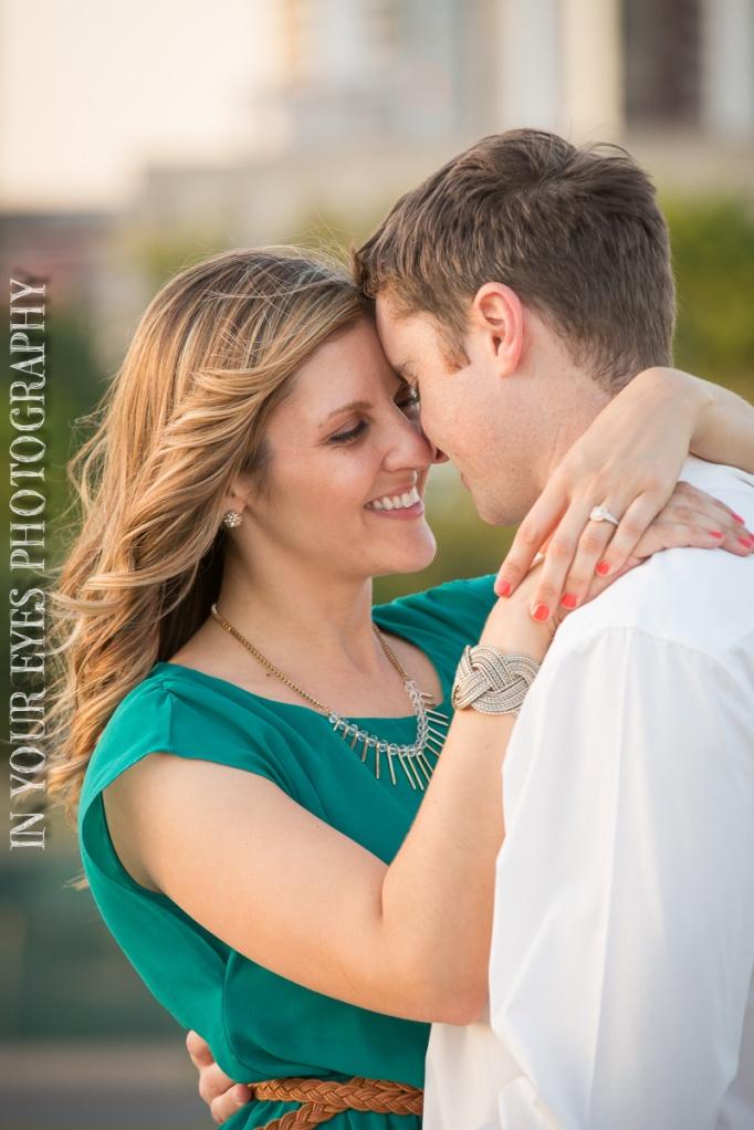 candid engagement photo