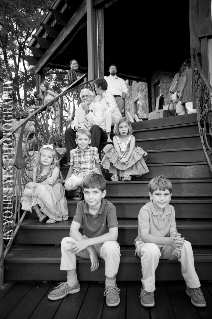kids on steps